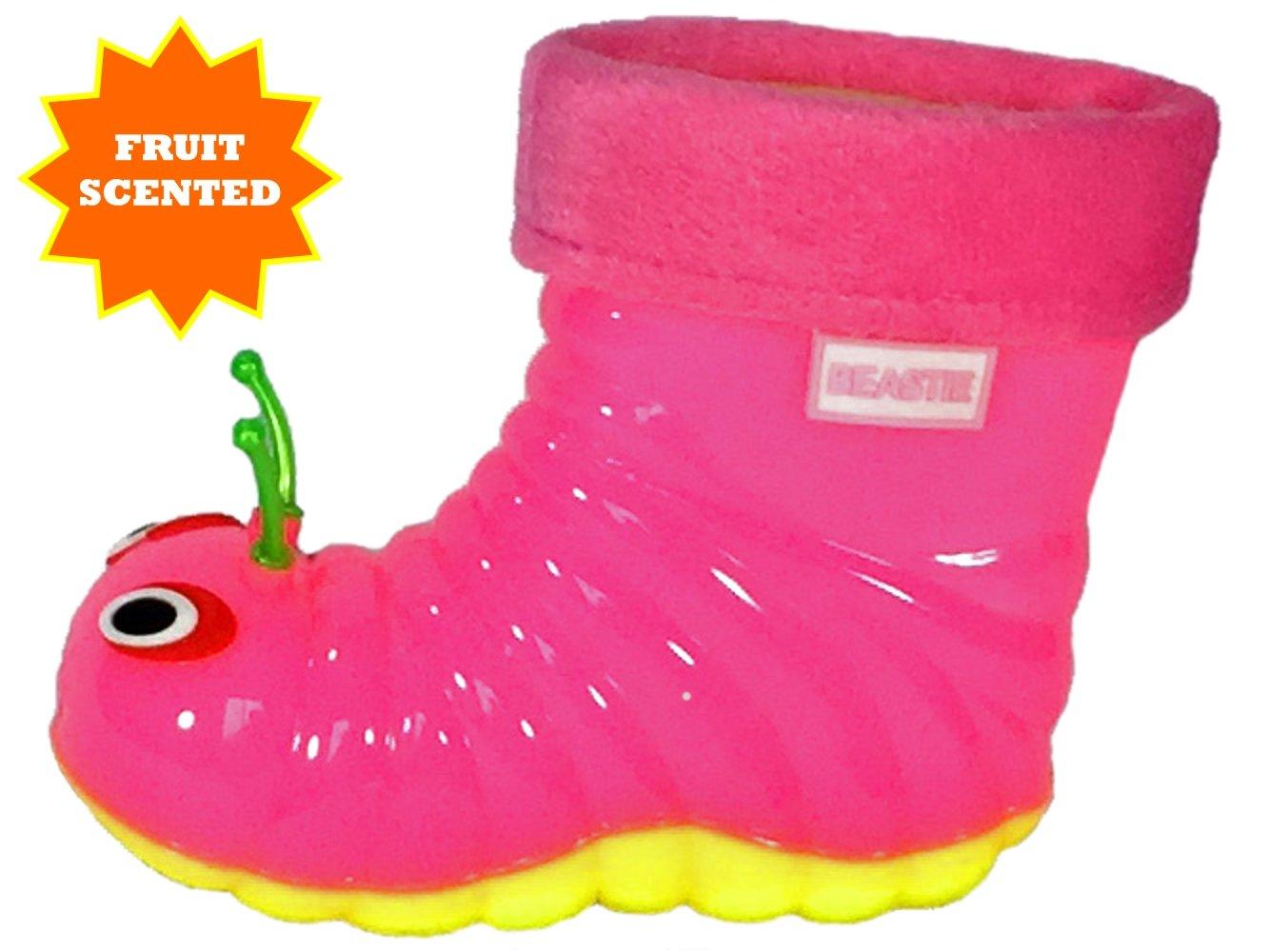 Children's Waterproof Rain Boots Cartoon Animals Toddler/Little Kid (28 (10 M US Toddler), Pink) by Beastie Shoes (Image #4)