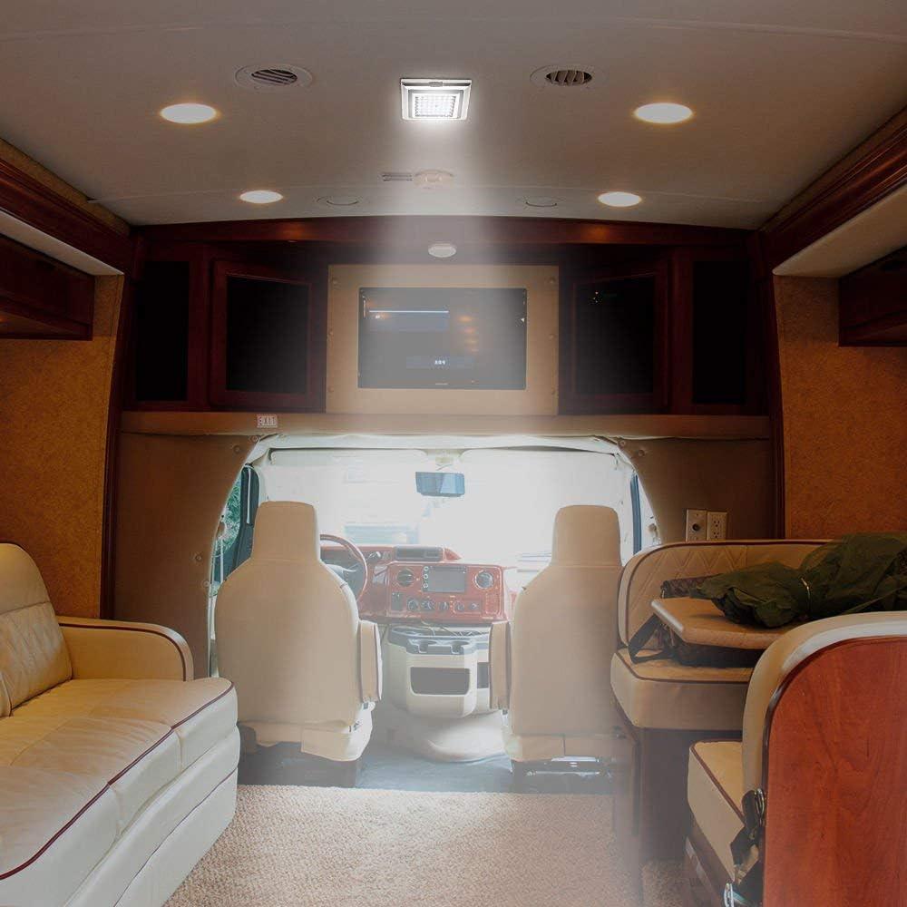 camping-car lumi/ère blanche avec SANWANitch bateau SANWAN Lot de 2 spots de plafond /à 42 LED 12 V pour caravane