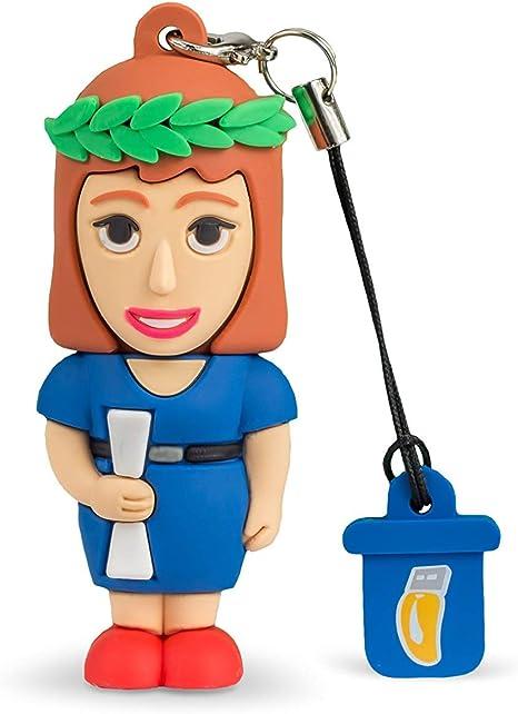 Pendrive 8 GB Portachiavi Simpatiche Chiavette USB Flash Drive 2.0 Memory Stick Archiviazione Dati Professional Usb Insegnante Donna