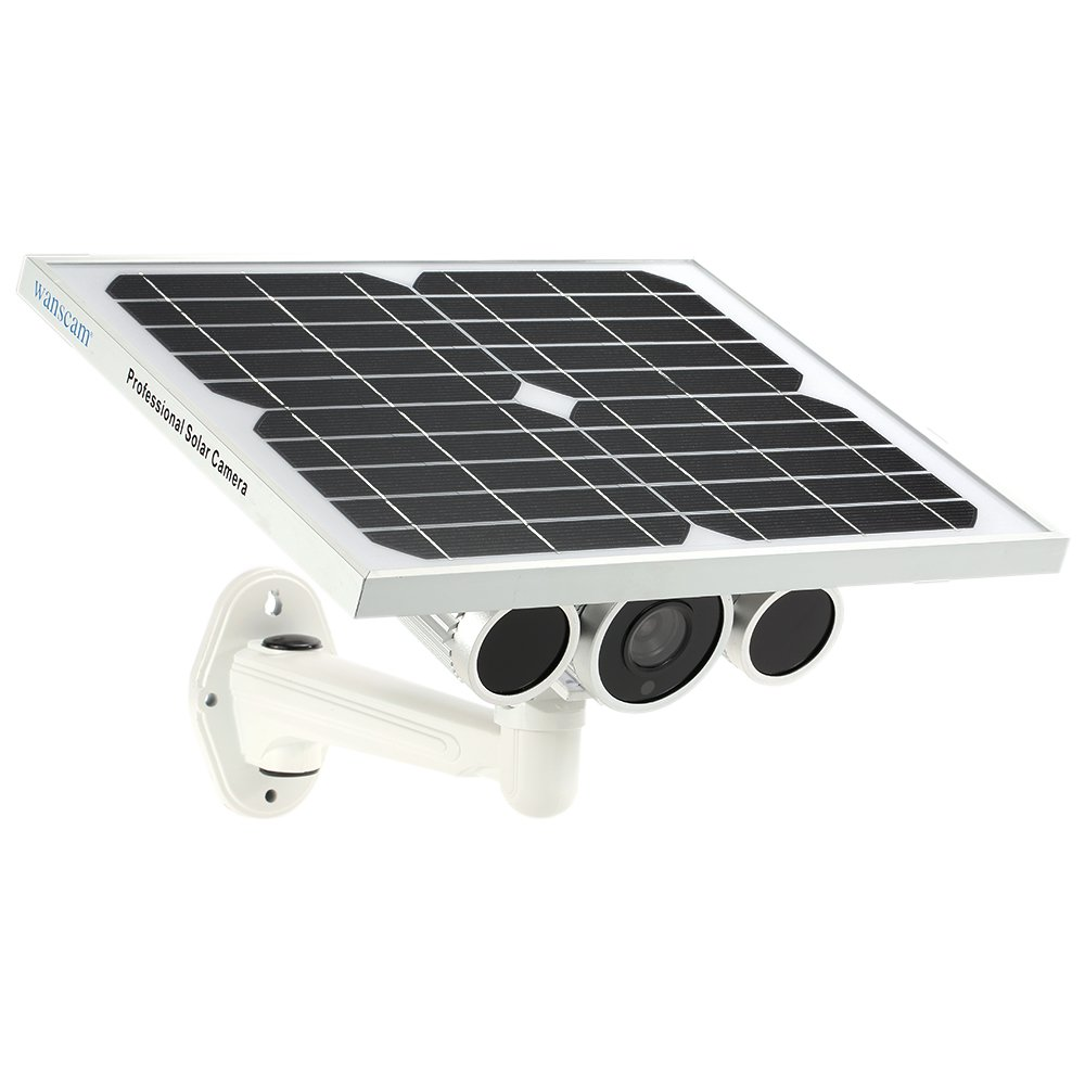 Wanscam HW0029 Outdoor Solar Power IP Camera With Battery 720P H.264 8mm Lens Waterproof WiFi Wireless Night Vision IR15m ONVIF2.1 P2P Surveillance Security Camera