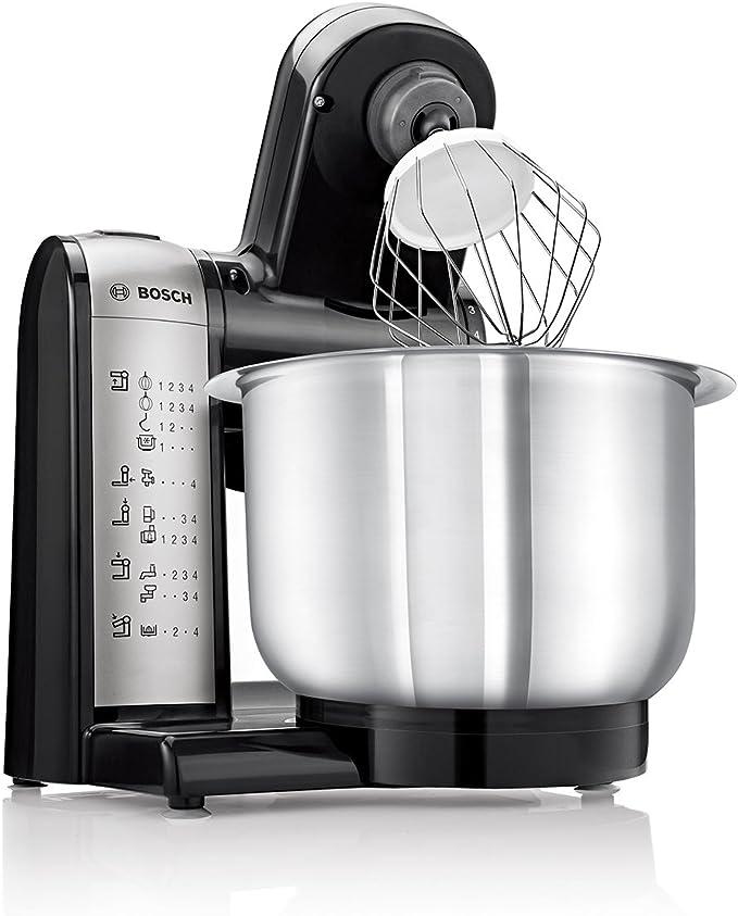 Amazon De Bosch Mum48a1 Küchenmaschine Kunststoff 3 9 Liters Schwarz