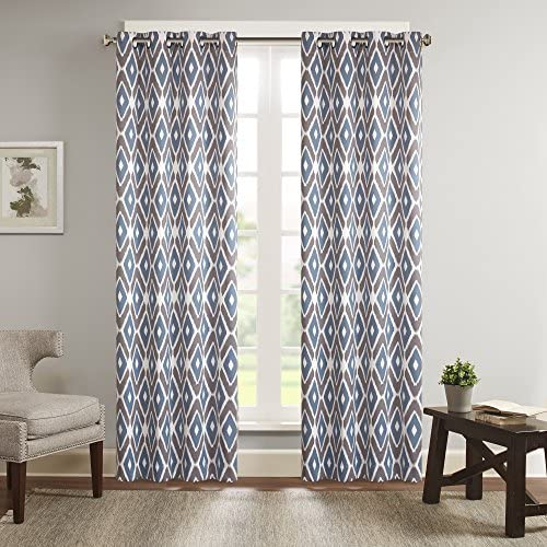 Plaid Premium Blackout Curtains, Curtains 84 inch Length Traditional Pattern from Scotland Vivid and Geometric Cultural Design Abstract Look Privacy Protection Multicolor W84 x L84 Inch
