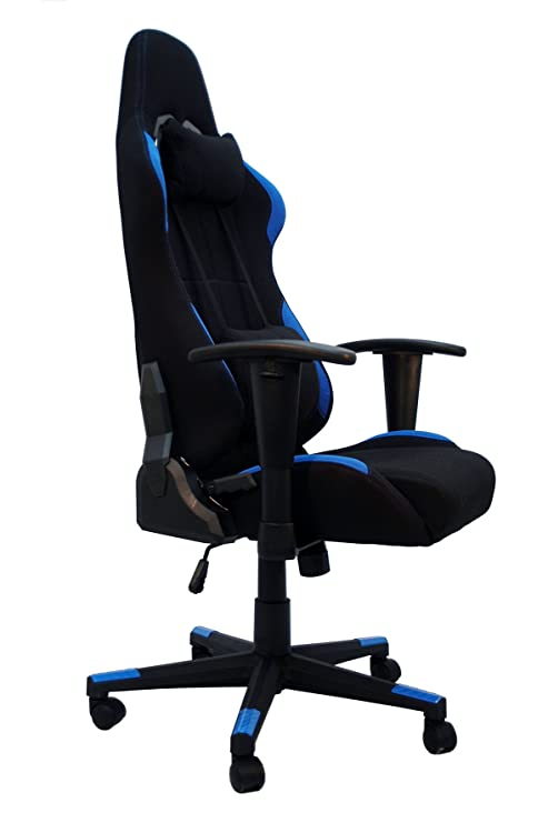 La Silla Española Silla gaming, racing para gamers, silla de Oficina Reclinable, Poliéster, Azul, 53x52x134 cm: Amazon.es: Hogar