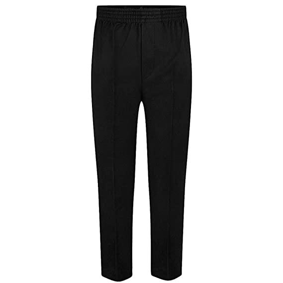 933055f1e8e Pull Up Fully Elasticated School Trousers, ages 2-12 in Black, Grey and  Navy: Amazon.co.uk: Clothing