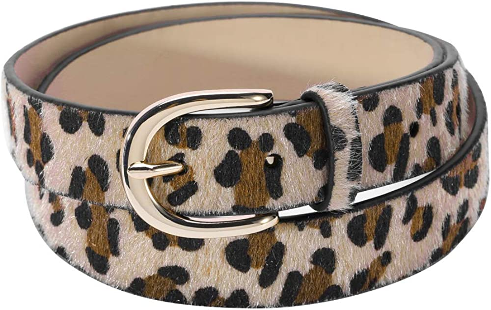 Women's Leopard Print Belt...