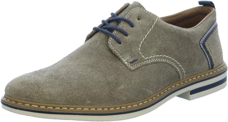 Rieker B1421 Derby Chaussures à Lacets pour Homme Gris