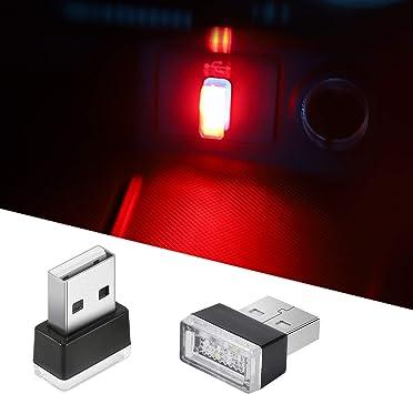 USB Car Interior LED Lights 7 Colors Atmosphere Lamp Mini USB Light Ambient Lighting Kit Universal Portable Night Decorations