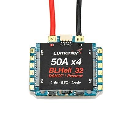 Amazon com: Lumenier BLHeli_32 32bit 50A 4-in-1 ESC 2-6s w