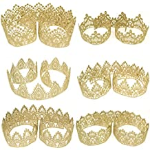Star Quality Golden Lace for Baby and Adult DIY Craft Crown | Craft Lace for Princess, Prince and Doll's Crown (1 Yard, Angel Eyes Crown Lace)