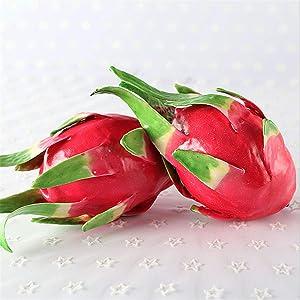 Zzooi 1PCS Artificial Pitaya Fake Dragon Fruit Display Props