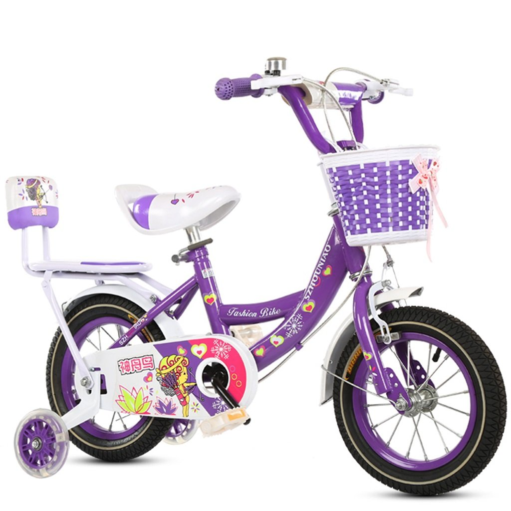 XQ TT-33子供の赤ちゃんのキャリッジ学生車紫の子供の自転車6-12歳 12/14/16/18インチ 子ども用自転車 ( サイズ さいず : 12-inch ) B07CK7SXM8 12-inch