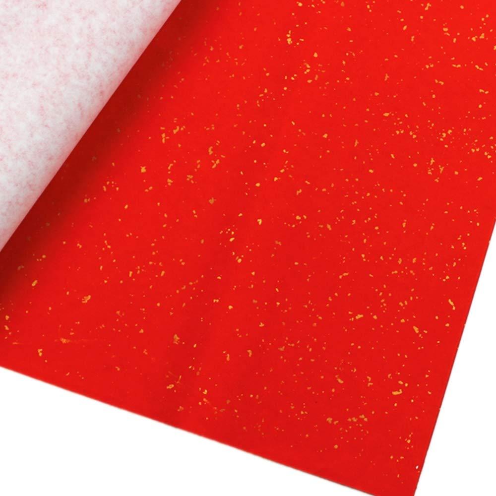 赤茶飯 紙切り 中国の書道 ウェディングパーティー DIY カップレット 中国新年 カリグラフィー 米 赤 紙製 レッド UIgerl03 B07GVPMC1Q Golden Point
