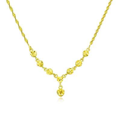 f70d6773fd060 Buy NEVI Heart Love 18K Gold Necklace Jewellery for Women Girls ...