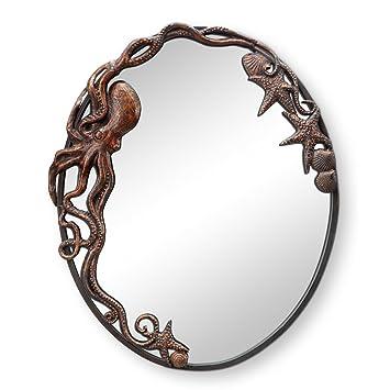 Amazon.com: Pulpo espejo de pared ovalado: Home & Kitchen