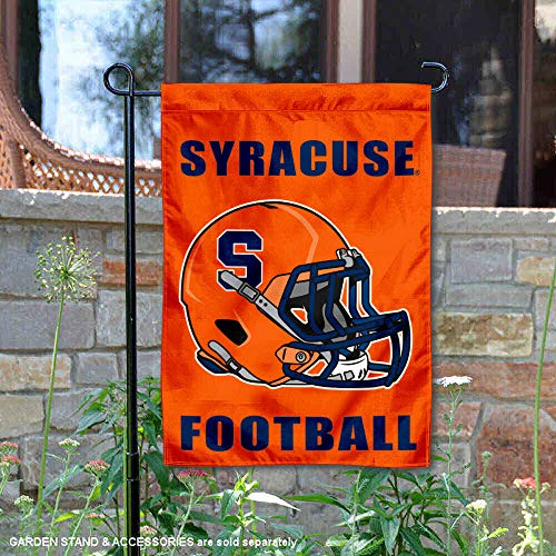 College Flags and Banners Co. Syracuse Football Helmet Garden Flag