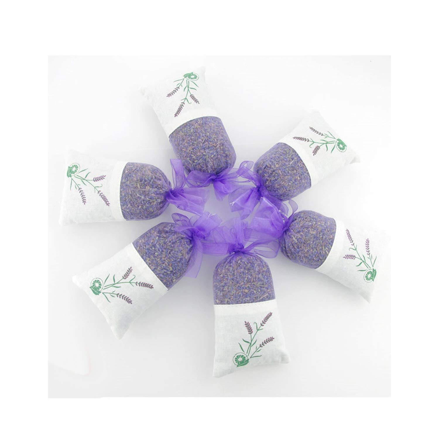 yuexianghui Natural Dried Flowers Lavender Bud Sachet Decorative Flower Aromatic Air Fresh Living Room Drawer,6 Pcs