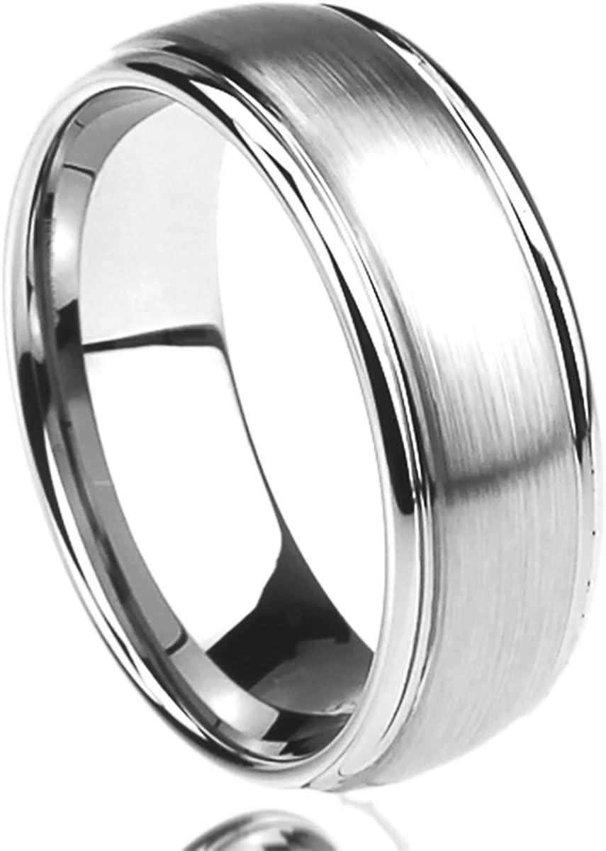 Stainless Steel 8mm Satin Mens Wedding Ring Sz 10.5