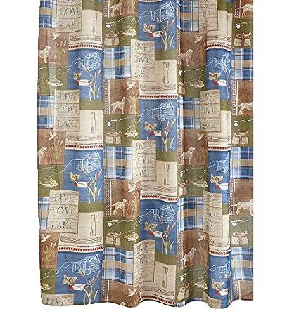 Amazon Bacova Guild Live Love Lake Shower Curtain Home Kitchen