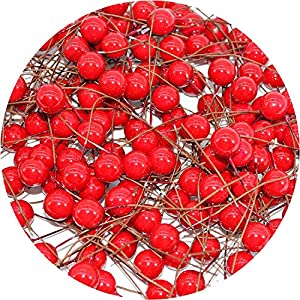 be-my-guest 50pcs/lot Mini Plastic Artificial Small Berries Artificial Flower Fruit Stamens Cherry Pearl Wedding DIY Gift Box Decorated Wreaths 67