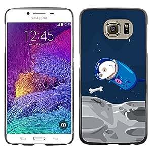 Be Good Phone Accessory // Dura Cáscara cubierta Protectora Caso Carcasa Funda de Protección para Samsung Galaxy S6 SM-G920 // Space Travel Parody Comic Laika Dog Cosmonaut