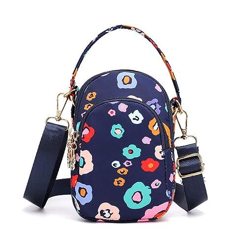 Yogwoo Bolsa cruzada para mujeres Mini Bolsas para teléfonos móviles Bolsas de nylon impermeables Bolsas de viaje Correa ajustable Monedero pequeño ...