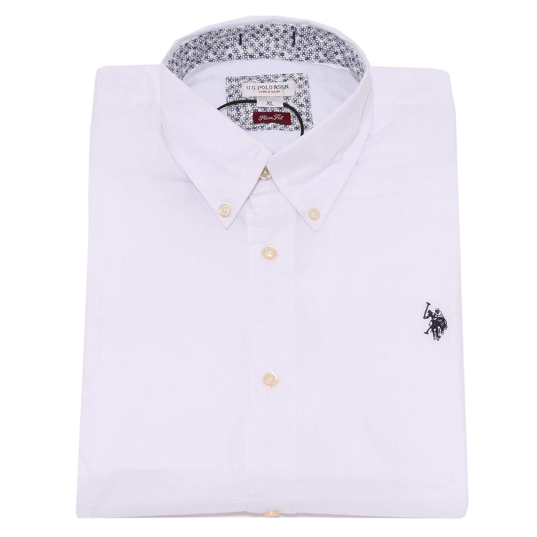 3830K Camicia uomo U.S. POLO ASSN. Slim FIT White Shirt Cotton Man ...