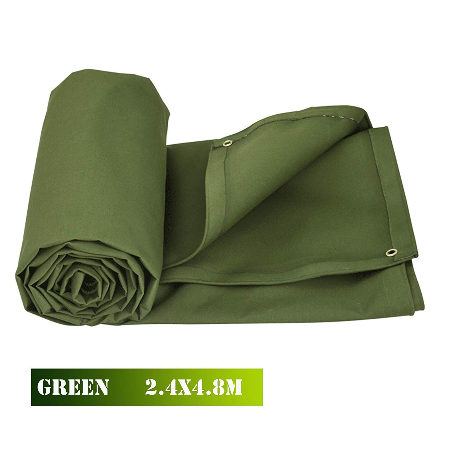Bkisy 8ft x 16ft Olive Drab Canvas Tarp Heavy Duty 18 oz Cotton Material Tarpaulin Tarp Waterproof and Breathable for All Purpose by Bkisy