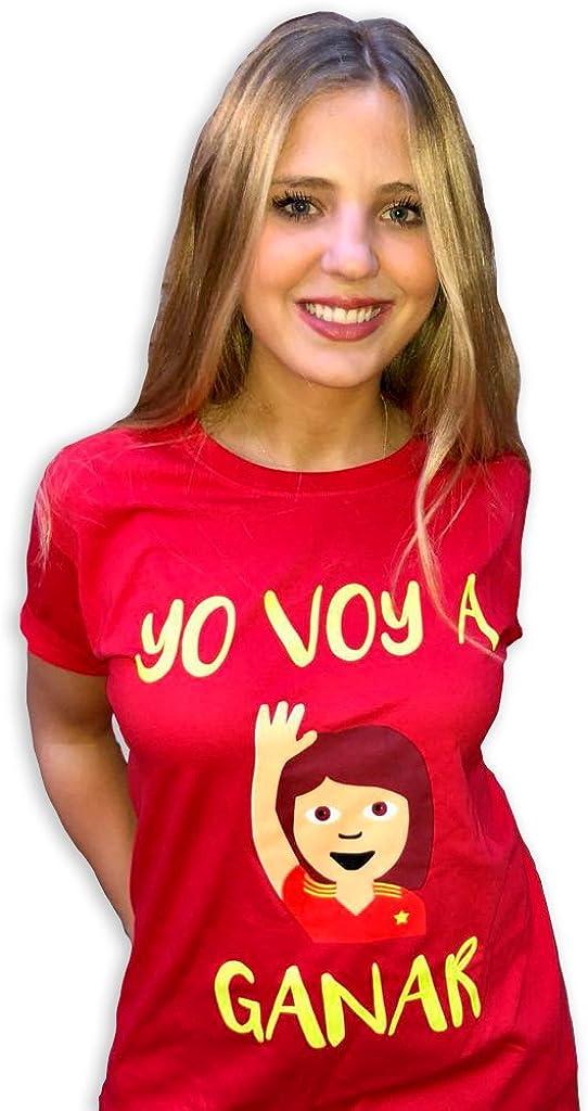 Kokomorocco Naola Design Camiseta España Mundial Mujer, Yo voy a Ganar, solidaria, Fundación Aladina, algodón, Color Rojo, Mundial Rusia 2018: Amazon.es: Joyería