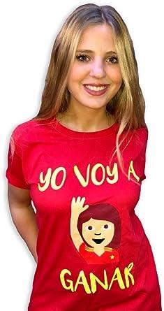 Naola design Camiseta España Mundial Mujer,Yo voy a Ganar, solidaria, Fundación Aladina, Algodón, Color Rojo, Mundial Rusia 2018: Amazon.es: Ropa y accesorios