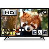 アイリスオーヤマ 32V型 液晶テレビ ハイビジョン ダブルチューナー内蔵 外付HDD対応(裏番組録画対応) 32WB10P