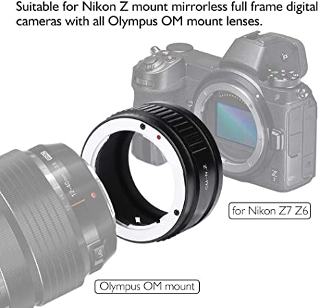 Simlug Adaptador de cámara Adaptador de Lente para Olympus OM Lens ...