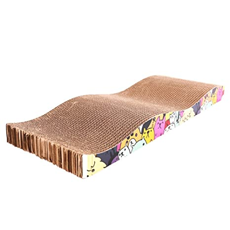 AnchengKAO Scratcher Toy For Cats by Meow Scratch Board con un diseño de Onda Curva Satisface