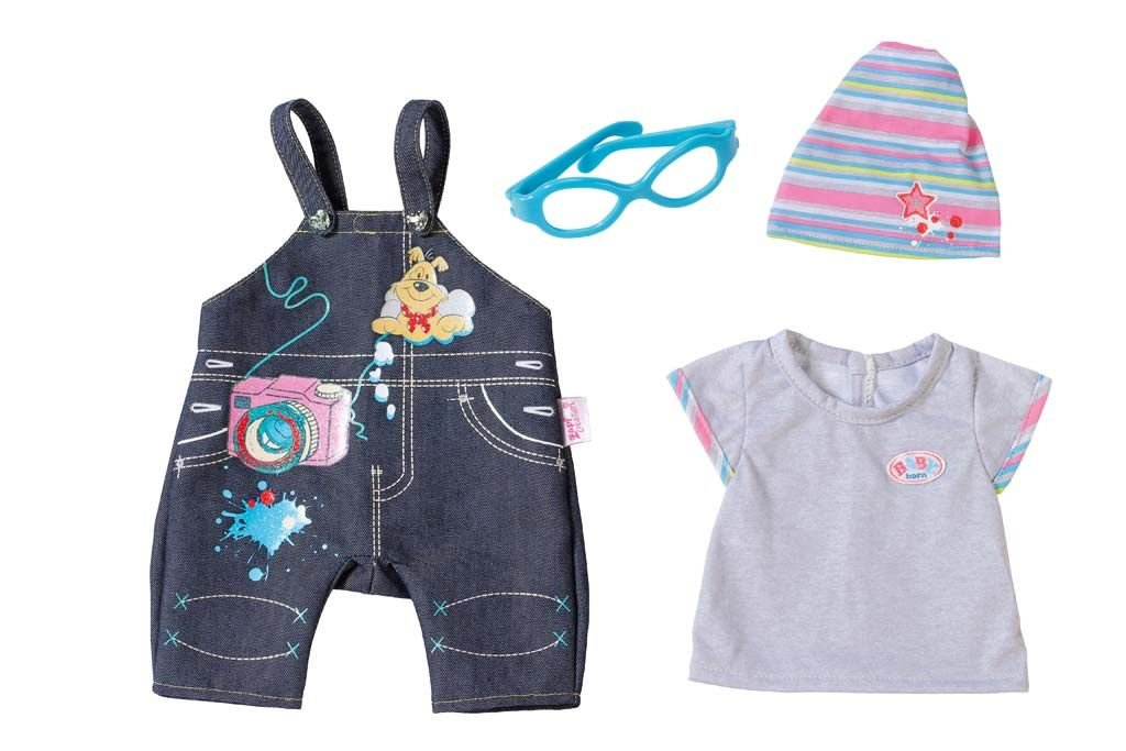 Zapf Creation 822210  –   Baby Born Deluxe Jeans Collection Couleurs Assorties