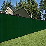OriginA 8x50ft Dark Green Fence Privacy Screen with 70 Zip Ties & Grommets/Shade Cloth/Shade Fence/Commercial Backyard Fence