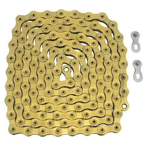 YBN 12 Speed Chain 126 Link with Power Lock Same As SRAM PC-XX1 Eagle, Gold #ST1449 -