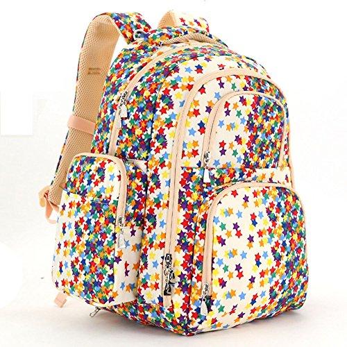 Bolsa de la momia, bolso de hombro, de gran capacidad de múltiples funciones bolso de la madre de la moda, bolsa de la madre y el bebé, salir a producir mochila ( Color : Rosa Roja ) Khaki