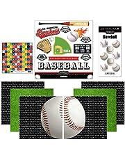 "Scrapbook Customs Themed Paper and Stickers Scrapbook Kit, Go Big Baseball, 12"" x 12"""