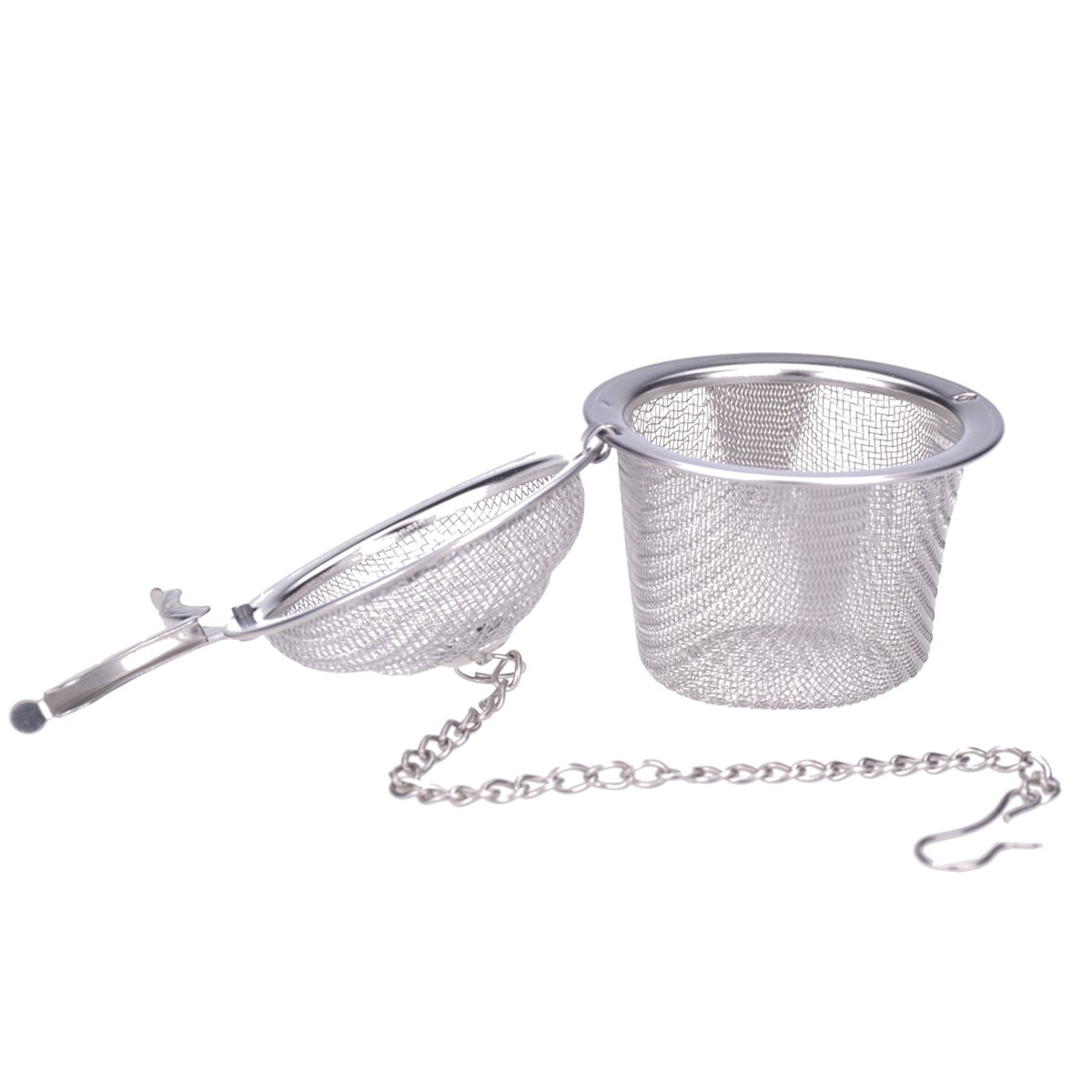 Ilyever Stainless Steel Mesh Tea Bag Strainer filter Infuser for Loose Leaf Grain Tea Cups, Mugs, and Teapots by ilyever (Image #2)