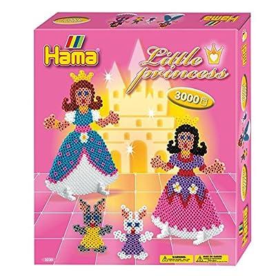 Hama 3230 - Loisirs Créatifs - Boîte Perles à Repasser - Taille Midi - Les Petites Princesses