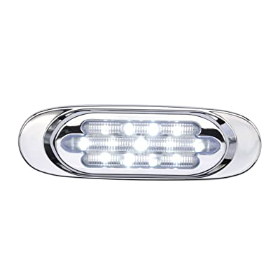 Maxxima M72270WCL 13 LED White Oval Interior Courtesy Marker Light with Stainless Steel Bezel: Automotive