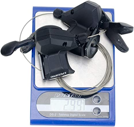 Shimano Deore SL-M590 Rapidfire Gear Shifter Lever 3x9 Speed with Inner Cables /& End Caps