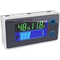 Battery Monitor, DROK 10-100V Digital Battery Capacity Tester, Percentage Level Voltage Temperature Switch Meter Gauge…