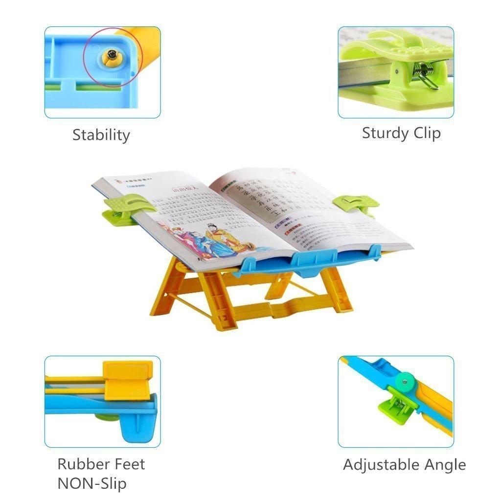color estilo 1 ideal para el despacho o la cocina Atril para partituras o libros de madera de bamb/ú regulable en 5 posiciones soporte de lectura para iPad o libro de recetas