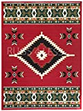 Rugs 4 Less Collection Southwest Native American Indian Area Rug Navajo Design R4L SW2 in Red (5'x7')