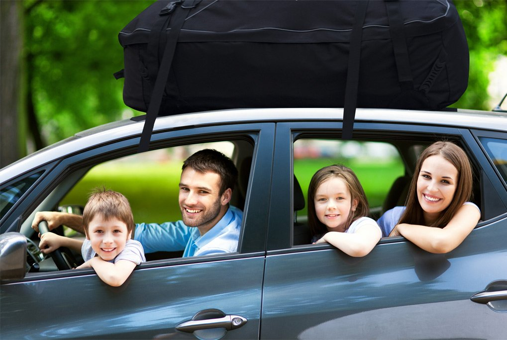YOUERBU Car Top Carrier Roof Bag with Protective Mat 16 Cubic Feet Fits All Cars: with Side Rails Cross Bars or No Rack Rooftop Cargo Carrier Bag Includes Heavy Duty Straps