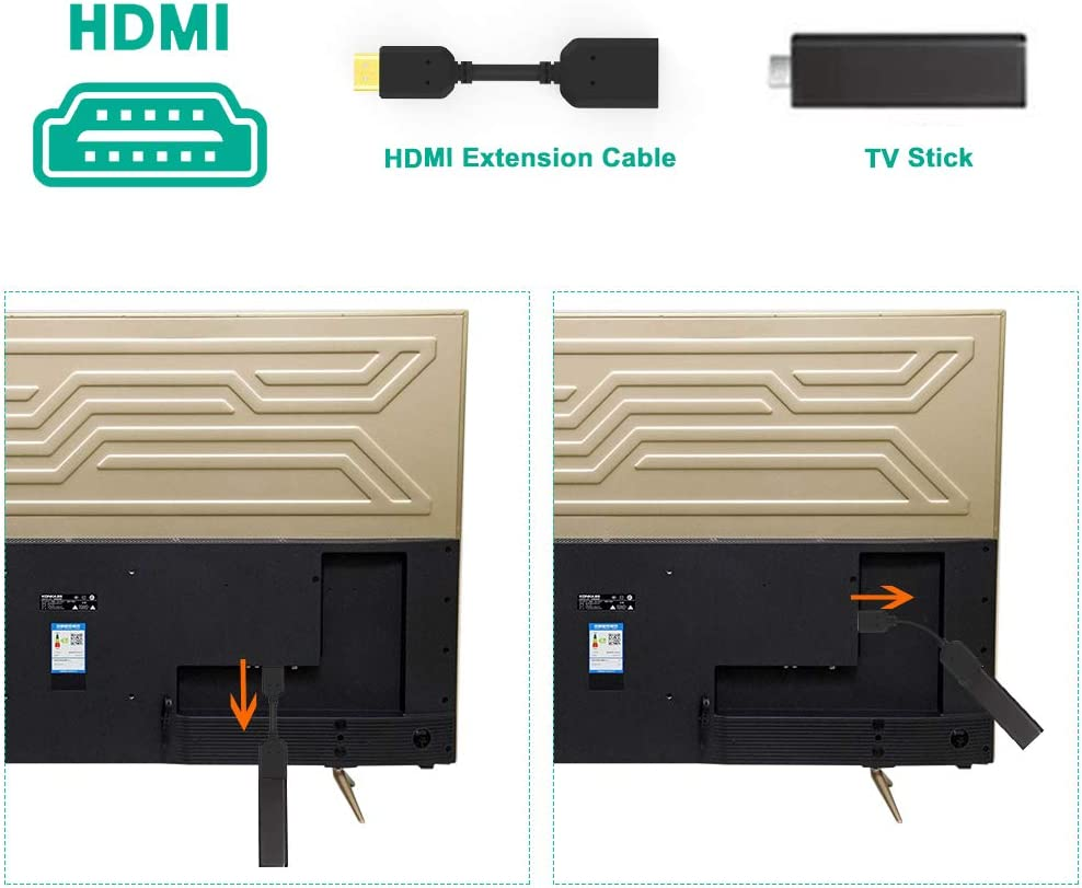 HDMI Extension Cable Extractme High Speed HDMI Male to Female Extender Adaptor Converter Support 4K /& 3D 1080P for Google Chrome Cast,Roku Stick,TV Stick,HDTV,PS3//4,Xbox360,Laptop and PC