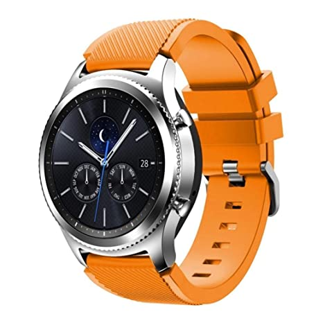 Tabcover® Gear S3 Frontier Classic Smart Watch Correa, 22mm Soft Silicone Sports Replacement Strap for Samsung Gear S3 Frontier Classic