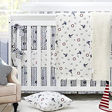614P6qLxD8L._SS450_ Nautical Crib Bedding and Beach Crib Bedding