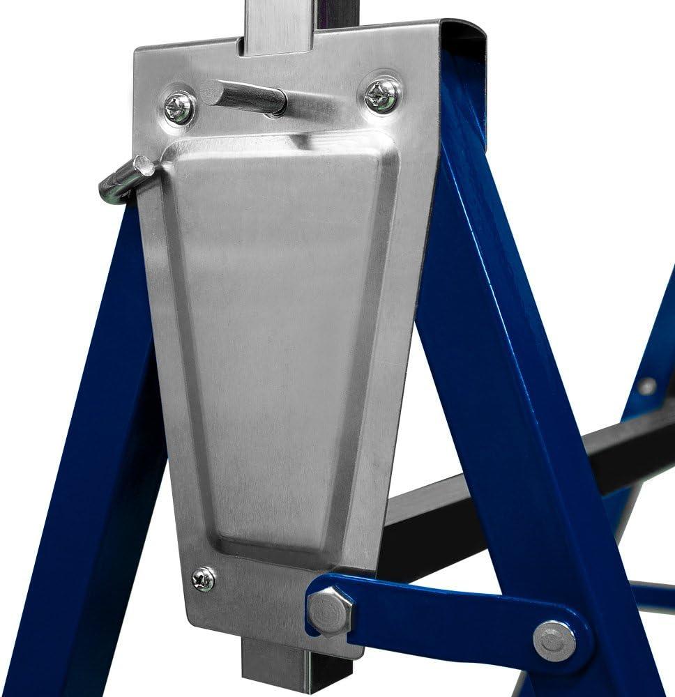 69x57x81cm caballetes ajustables 200kg por bloque | 7 alturas Altura: 81-130 cm plegables Barra de ajuste galvanizado Deuba /® Set de 2x caballetes de trabajo altura regulable