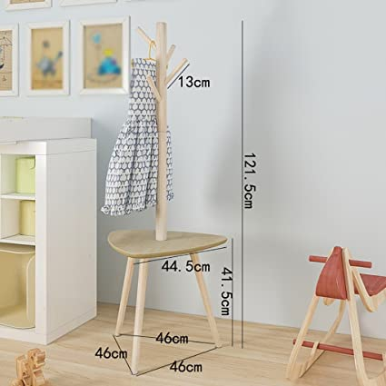 Appendiabiti per bambini appendiabiti da terra in legno semplice ...